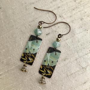 Clone of Aqua Moth Earring Charms