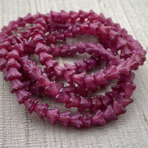 5x6mm Bell Flowers Fuchsia with a Pink Wash