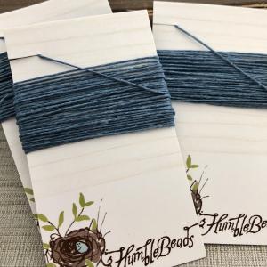 4 Ply Irish Waxed Linen - Williamsburg Blue