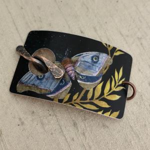 Moth Bracelet Toggle Clasp - Purple
