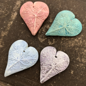 PRE-ORDER Queen Anne's Lace Heart Pendant
