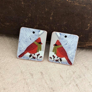 Cardinals Faux Tin Charms
