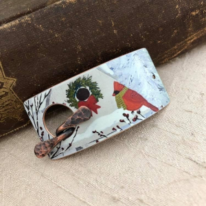 Cardinals Faux Tin Bracelet Toggle