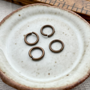 9mm Brass Cable Jump Rings  - 4