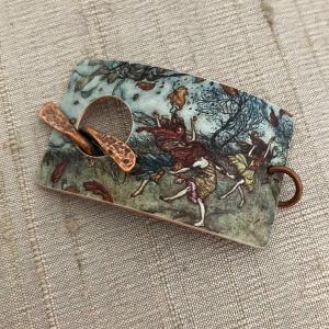 Rustling Leaves Faux Tin Bracelet Cuff