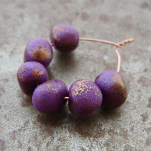 Speckled Orchid Bead Wobbles