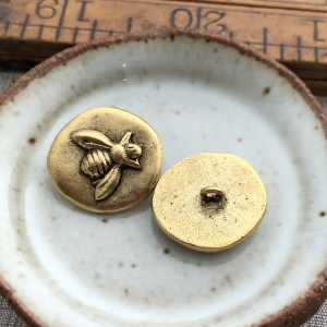 Bee Button Antique Gold