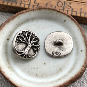 Artisan Tree Button - Pewter