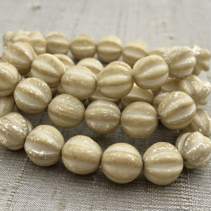 10mm Melon Yellow Ivory with a Mercury Finish
