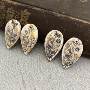 Folk Flower Earring Charms