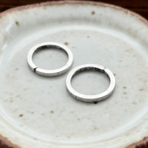 Square Wire Jump Ring 12mm Antique Silver - 2