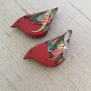 Cardinal Holiday Folk Bird