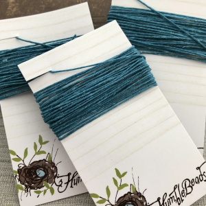 4 Ply Irish Waxed Linen - Teal