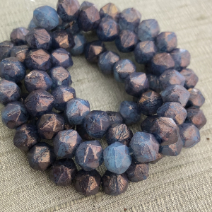 8mm English Cut Celestial Blue with Hyacinth Finish