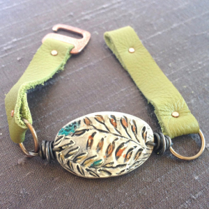 Leather Bracelet with Micro Screws & Nuts