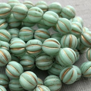 10mm Melon Mint with Gold Wash