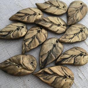 Brass Renaissance Leaves