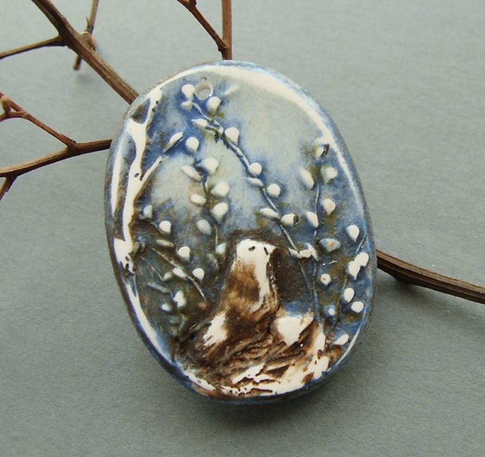 Meadowlark Necklace: Meadowlark Pendant - Midnight Song