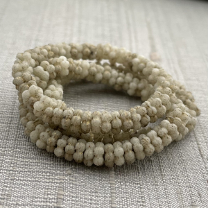 5mm Forget-Me-Not Spacers Ivory with Etched Finish