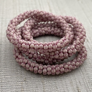 5mm Forget-Me-Not Spacers White with  Metallic Pink Wash