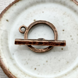 Hammered Toggle Antique Copper