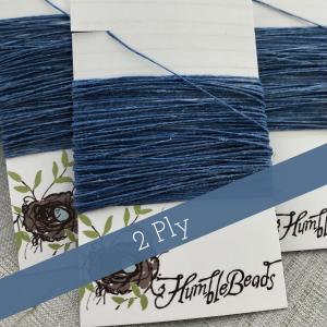 2 Ply Irish Waxed Linen - Royal Blue