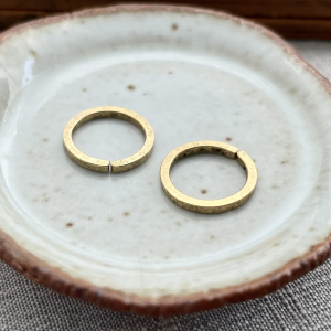 Square Wire Jump Ring 12mm Gold - 2