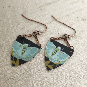 Aqua Moth Earring Charms