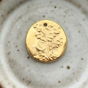 Gold Folk Flower Charm