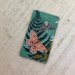 Moth and Ferns Pendant