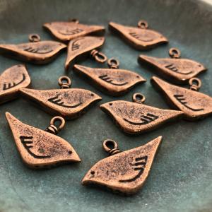 Copper Bird Charm