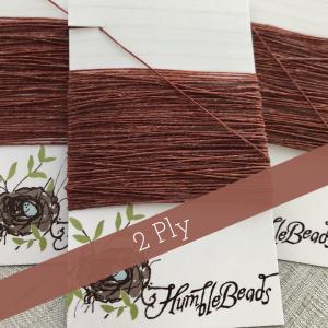 2 Ply Irish Waxed Linen - Dark Rust