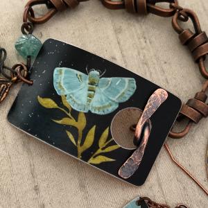 Bracelet Toggle Clasp - Aqua