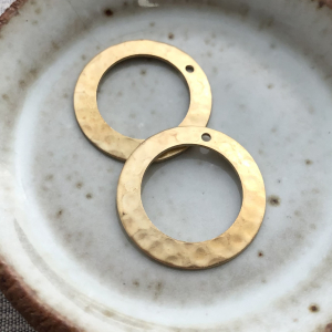 Tiny Hammered Ring - Pair of 2