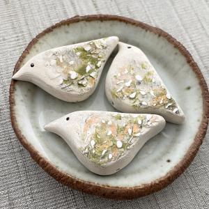 Willow Bird Bead: Cream