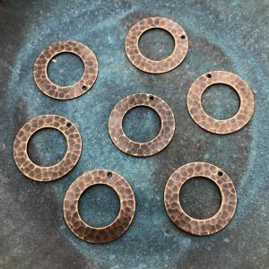 Brass Hammered Ring