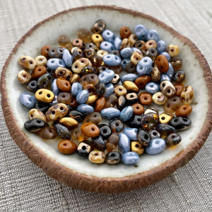Nature Finds Mix Superduo 2.5x5mm Seed Bead