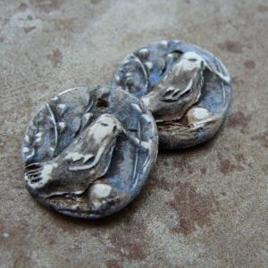 Tiny Bird Charms - Set of 2