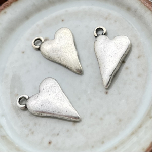 Small Heart Charm Antique Silver - 1