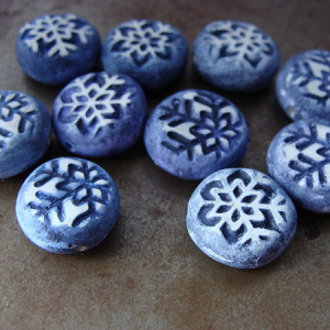 Tiny Snowflake Coin Bead