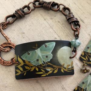 Luna Moth Bracelet Cuff