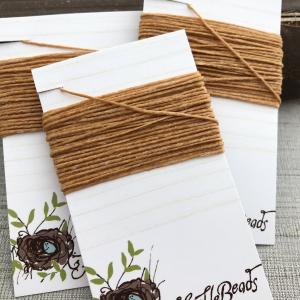 4 Ply Irish Waxed Linen - Butterscotch