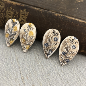Folk Flower Earring Charms