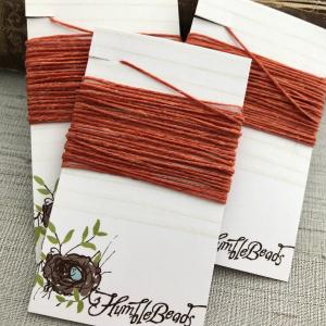 4 Ply Irish Waxed Linen - Rust