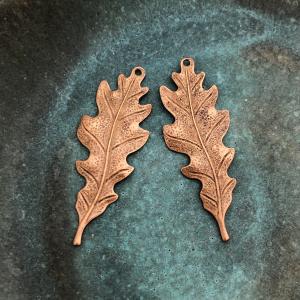 Oak Leaf - Copper 40 x 15mm