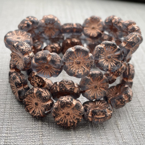 12mm Hibiscus Grey with Copper Etched Finish