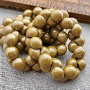 9x8mm Mushroom Button Beads Mustard