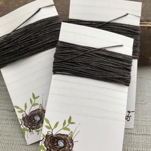 4 Ply Irish Waxed Linen - Dark Chocolate