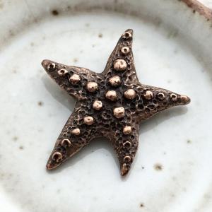 Artisan Starfish Pendant - Antique Copper