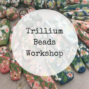 Trillium Flower Beads Online Workshop